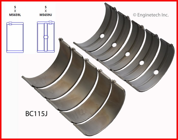 BC115J Bearing Set - Main Enginetech