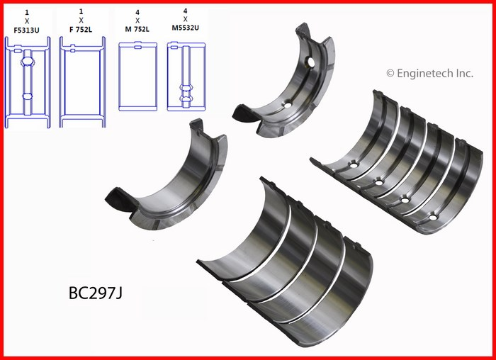 BC297J Bearing Set - Main Enginetech