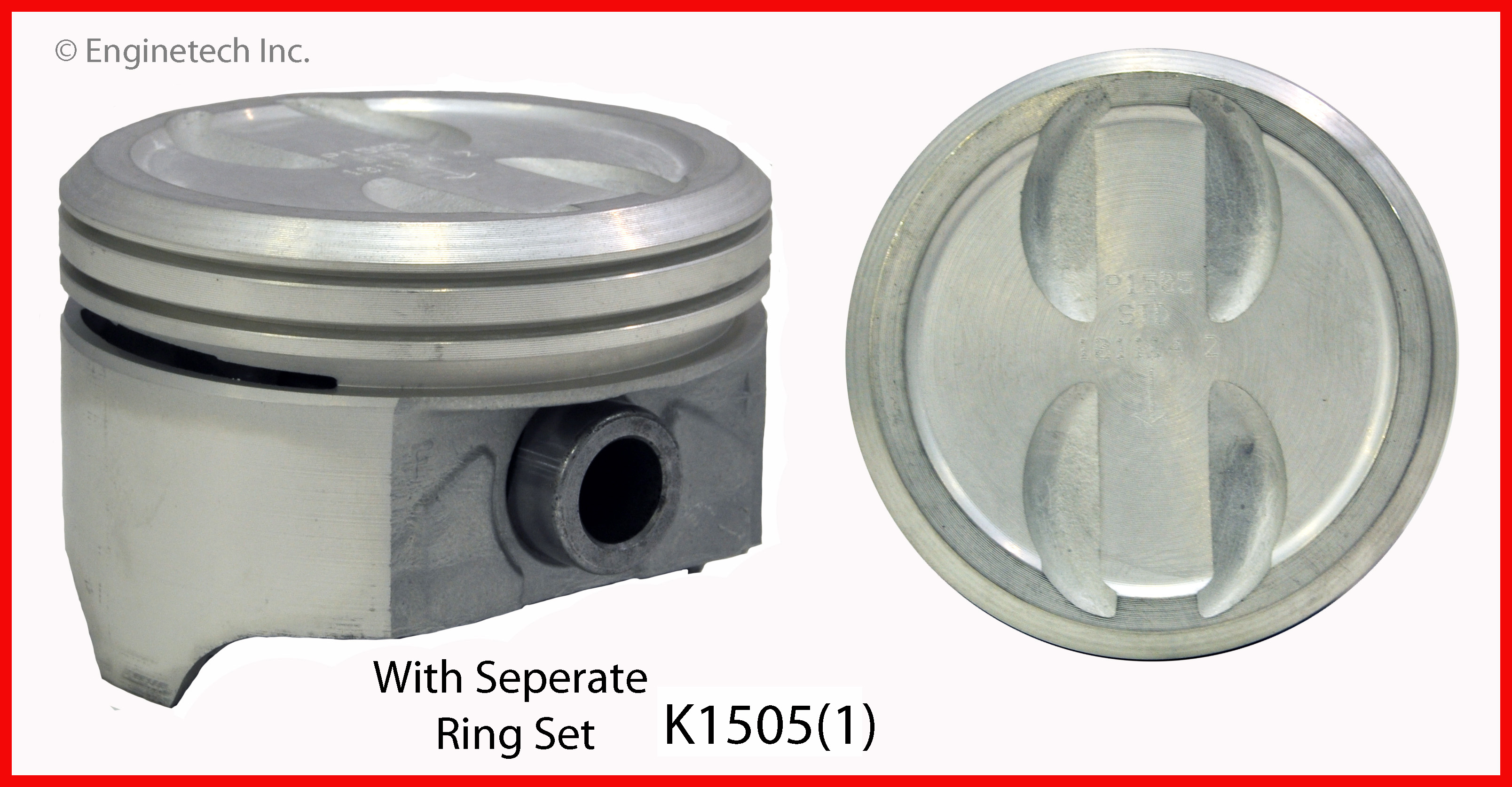 K1505(1) Piston And Ring Kit Enginetech