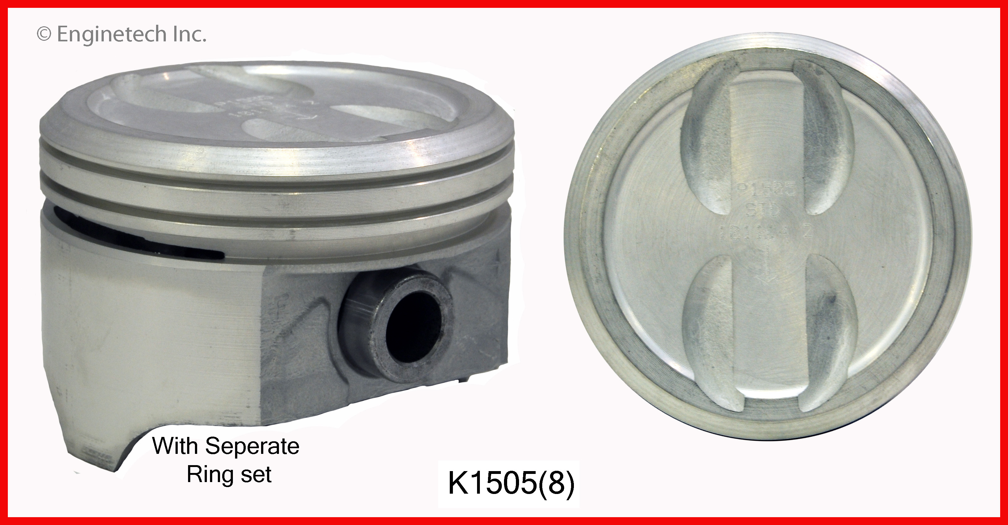 K1505(8) Piston And Ring Kit Enginetech