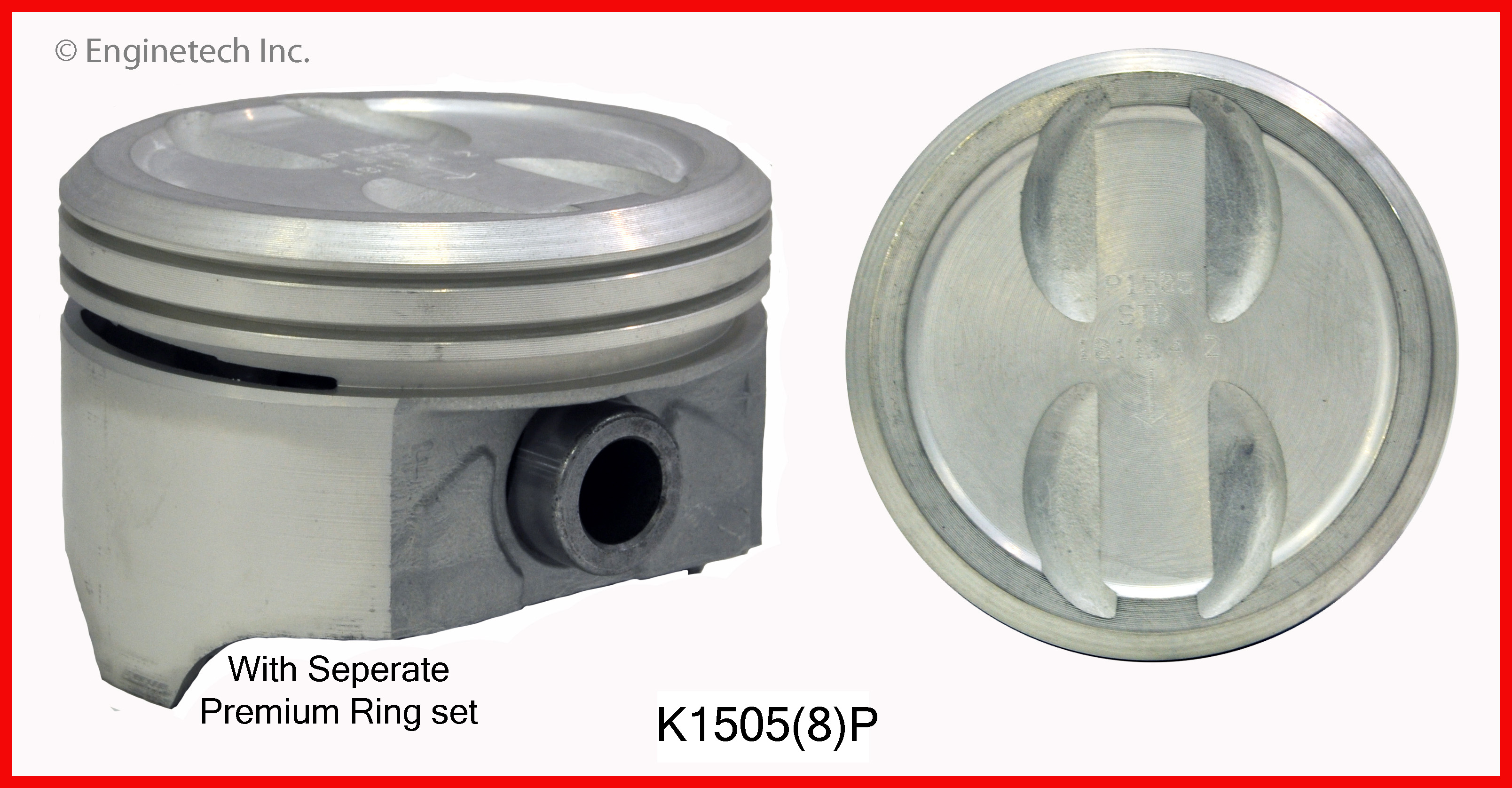 K1505(8)P Piston And Ring Kit Enginetech