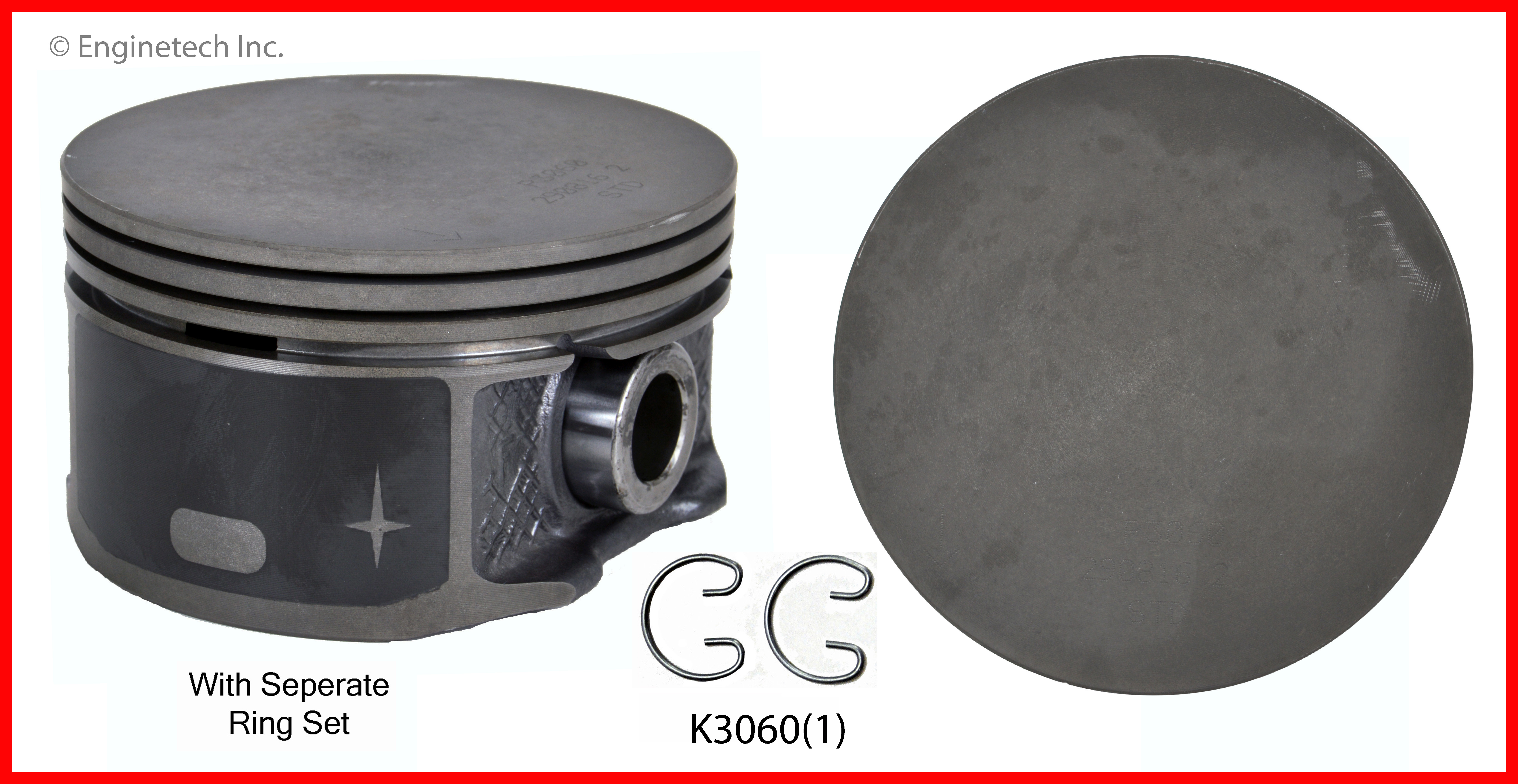 K3060(1) Piston And Ring Kit Enginetech