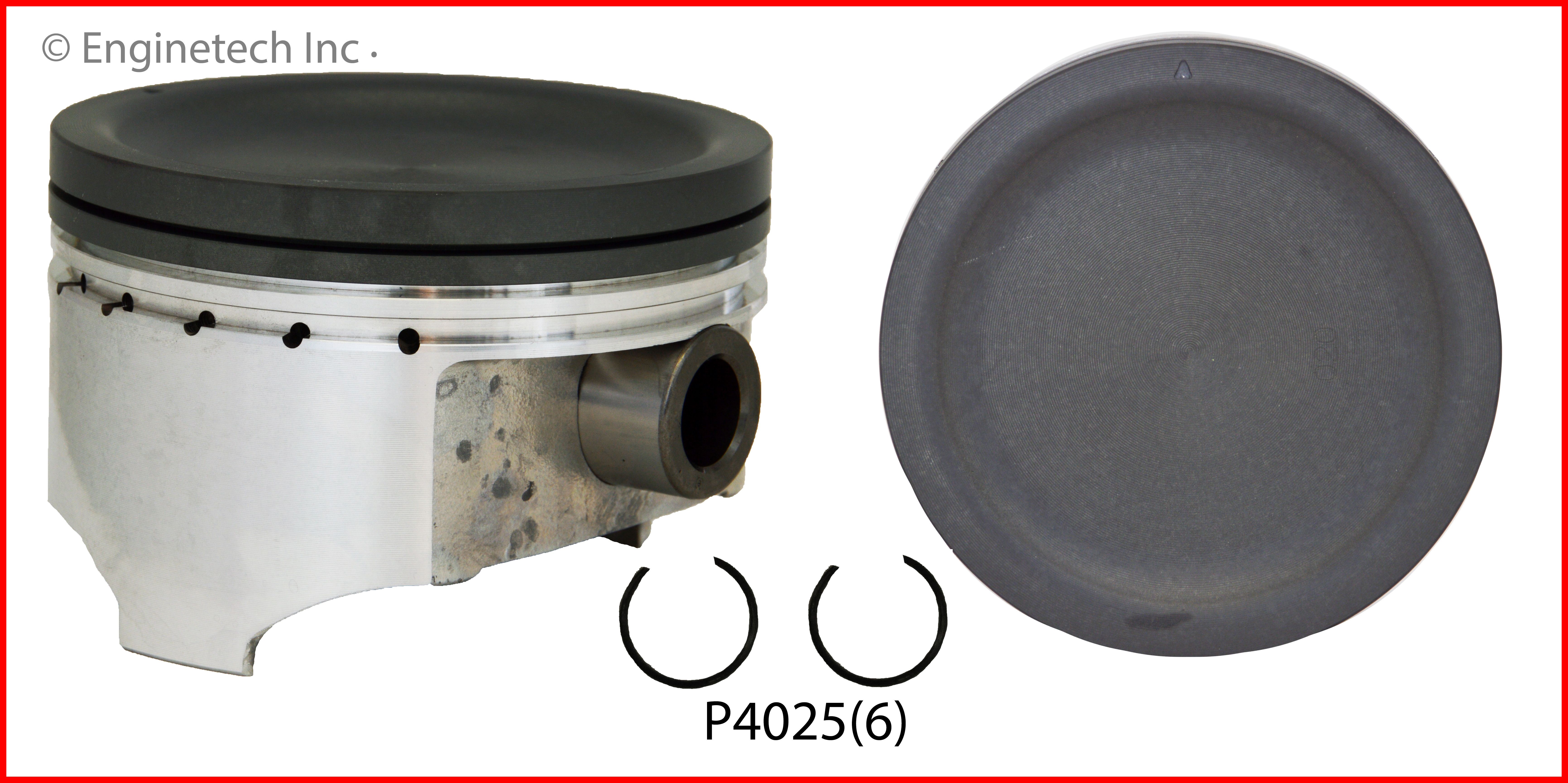P4025(6) Piston Set Enginetech