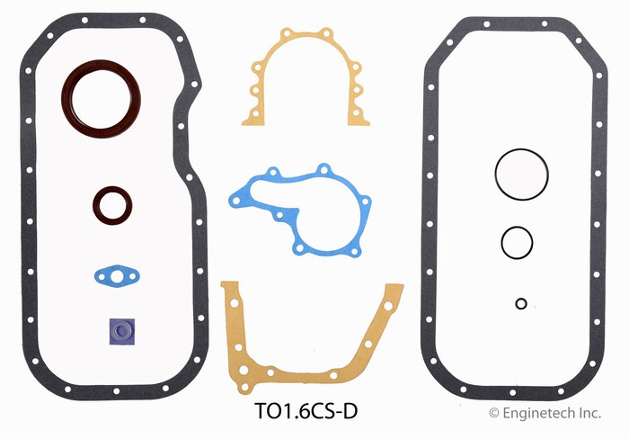 TO1.6CS-D Gasket Set - Lower Enginetech