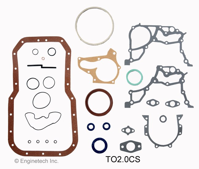 TO2.0CS Gasket Set - Lower Enginetech