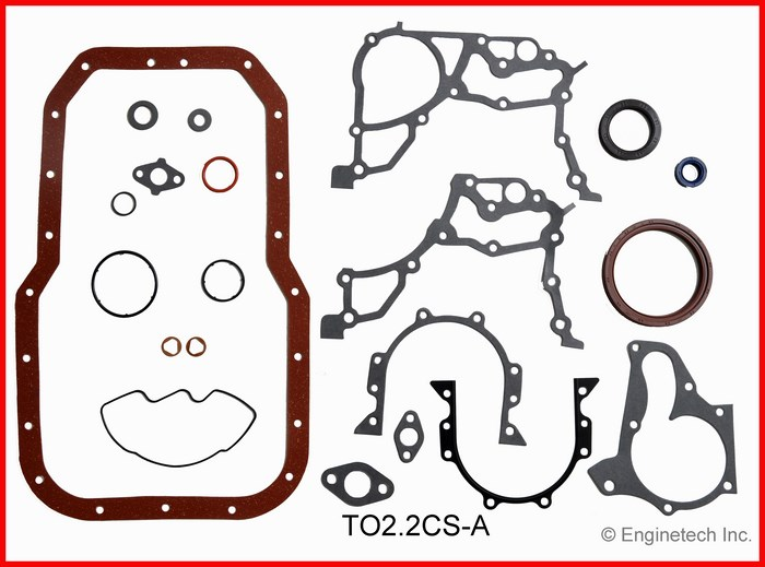 TO2.2CS-A Gasket Set - Lower Enginetech