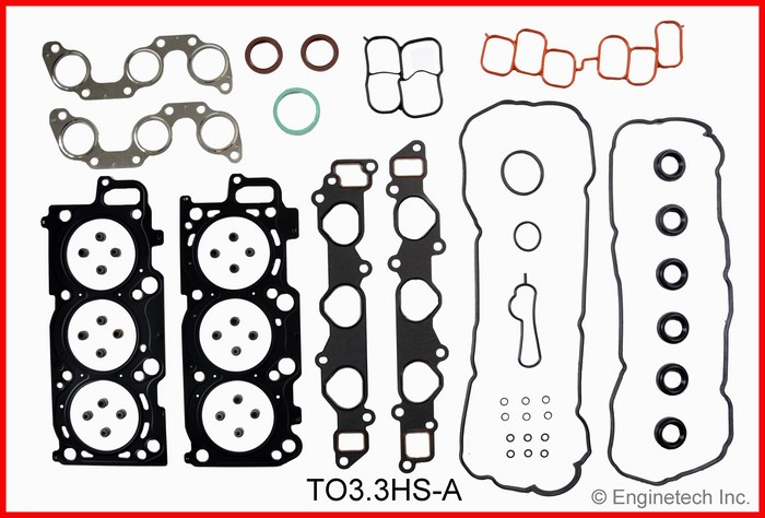 TO3.3HS-A Gasket Set - Head Enginetech
