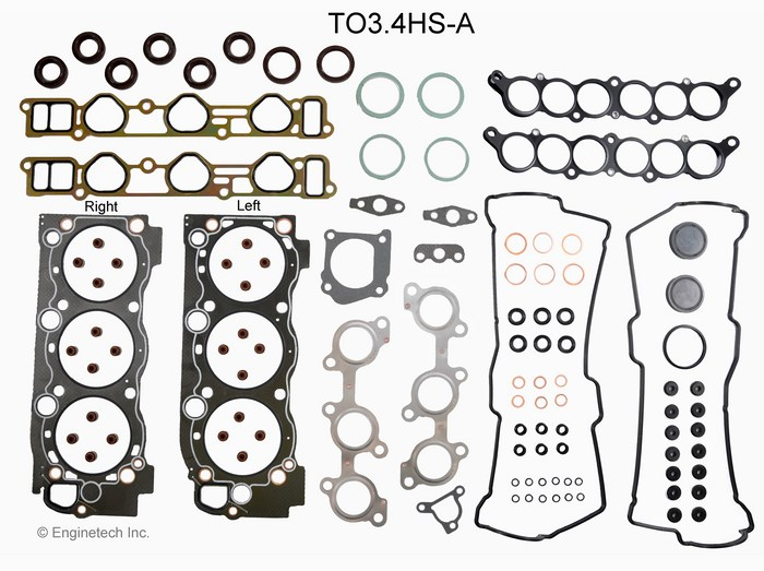 TO3.4HS-A Gasket Set - Head Enginetech
