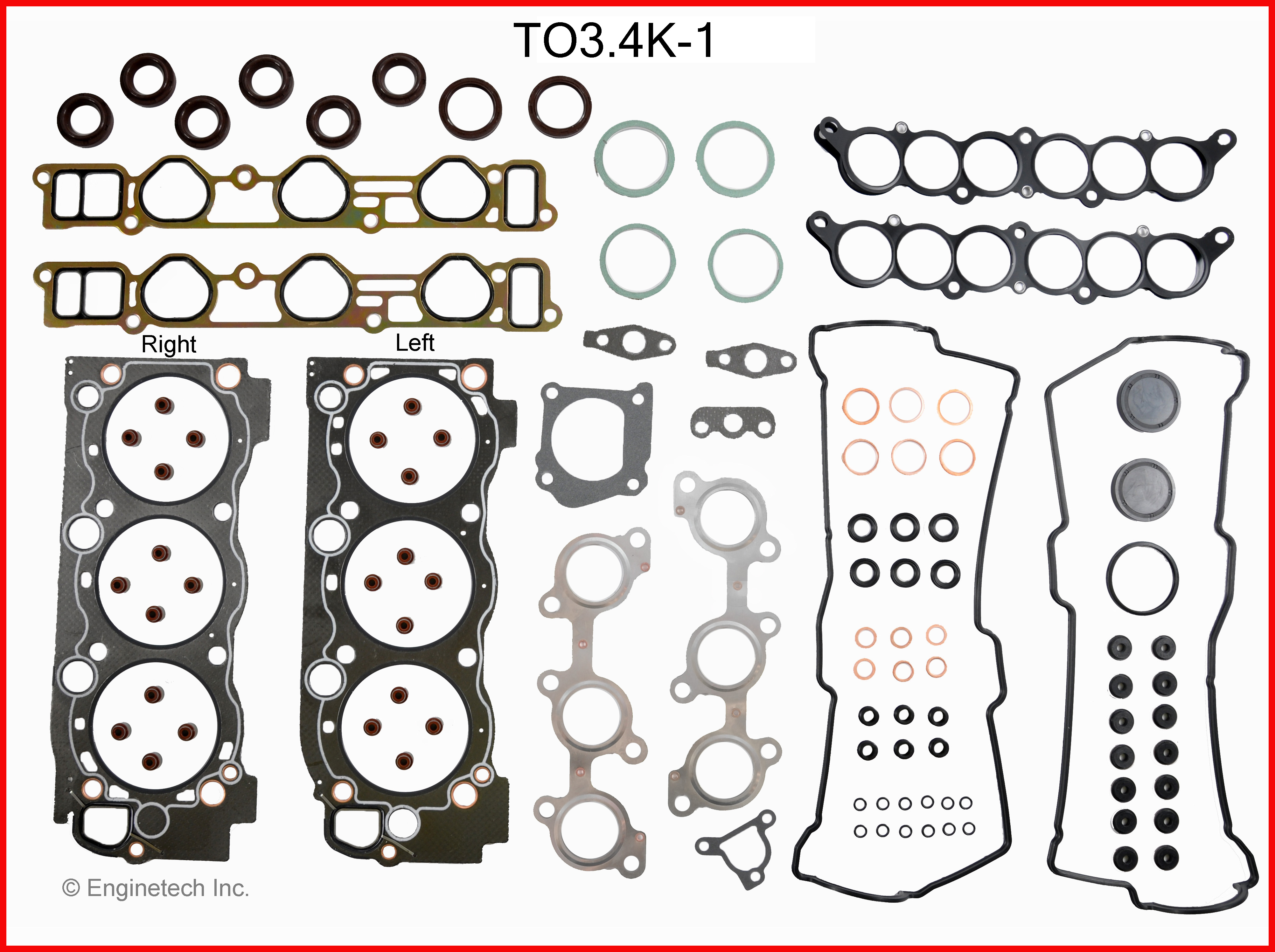 TO3.4K-1 Gasket Set - Full Enginetech